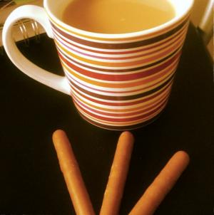 Mug of revelation...and some Lez Cadbury's Fingres for good measure. Taste the same!