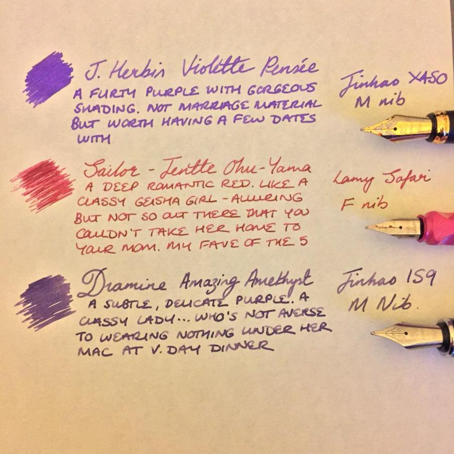Abusing V.Day with nice handwriting